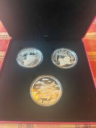 Canada 2021 5oz Silver 50 3 Coin Set 1st 100 Years Confederation Trains Boat 91