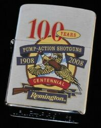 Zippo 2008 Limited Remington Arms 100th Anniversary Used W/i Can
