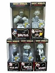 San Diego Comic Con Exclusive Black And White Popeye Wacky Wobbler Complete Set 5