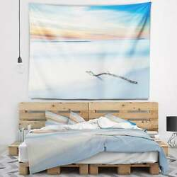 Designart And039wood Branch On Beach At Twilightand039 Modern Seascape Small