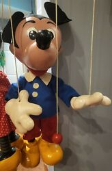 Rare Large Pelham Puppet Mickey Mouse Store Display Vintage C1950
