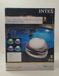 Intex Dual Magnetic Led Pool Light For Above Ground Pools Underwater Led