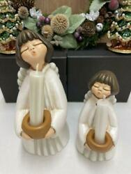 Thun Singing Angel Candle Stand Set of 2 from Japan Free Shipping