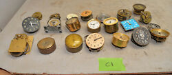 Large Lot Small Clocks France Germany Automobile Desk And More Collectible C1