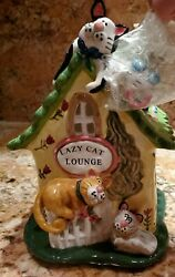 Blue Sky Clayworks Lazy Cat Lounge Candle House By Heather Goldminc New