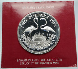 1973 Bahamas Pirate Defeat Motto Old Specimen Proof Silver 5 Dollars Coin I86904
