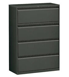 Workpro 36w Lateral 4-drawer File Cabinet, Metal, Charcoal/ Local Pick Up