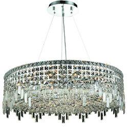 Asfour Crystal Foyer Kitchen Island Dining Room Fixture Chandelier 18 Light 32