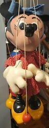Rare Large Pelham Puppet Minnie Red Dress Mouse Store Display Vintage C1950