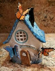 Blue Sky Clayworks Butterfly Candle House By Heather Goldminc. New