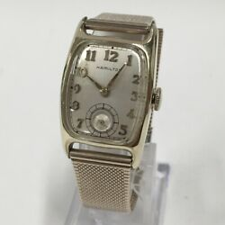 Hamilton 10k Carving Watch Color Gold Secondhand
