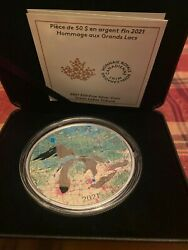 2021 - Great Lakes - 50 5 Oz Pure Silver Proof Map Coin - Canada 164
