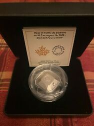 Forevermark Diamond 3d Shaped Silver Coin 50 Canada 2020 169
