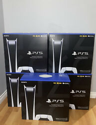 Sony Ps5 Digital Edition Console - White - In Hand - Ships Fast