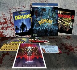 Demons 1 + 2 New Sealed Blu-ray Special Limited Edition Lumberto Bava