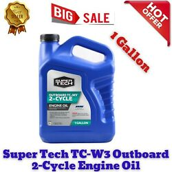 Premium High-quality Super Tech Tc-w3 Outboard 2-cycle Engine Oil 1 Gallon T