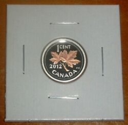 Canada 2012 Proof Penny Pure Silver With Selective Gold Plating One 1 Cent Coin
