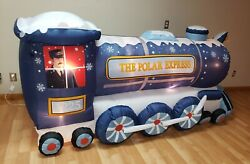 Polar Express Train Airblown Lighted Yard Inflatable New 9ft Long