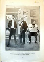 Antique Print Pulling His Leg First Member Cohenstein Shooting Beaters 1902
