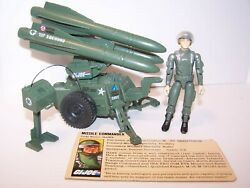 Vintage Gi Joe Mobile Missile System With Hawk And File Care 1982
