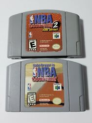 Bundle Nba Courtside 1 And 2 Kobe Bryant Nintendo 64 N64 Authentic And Working