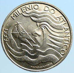 1999 Portugal Atlantic Sailing Vintage Old Proof Silver 1000 Escudo Coin I96946