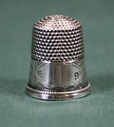 Simon Bros. Sterling Silver Thimble In Ex Condition