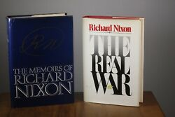 Richard Nixon Signed Autographed Books From John Mccains Personal Collection