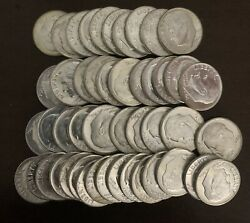 1964-d Roosevelt Silver Dime Roll Bu Std. 50 Ct. Roll In Tube Approx. 3.575oz