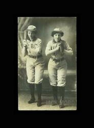 Rare Antique Photo Postcard Of Female Baseball Players With Bat And Glove