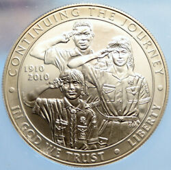 2010 P United States Us Boy Scouts Of America 100y Silver Dollar Coin Icg I96970