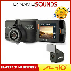 Mio Mivue 751 Dual Car Dash Cam Dvr With Gps And Speed + Rear Camera Video Record