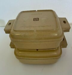 Littonware Microwave Cookware 4 Pc 39274, 39275 39271 And 39272 Square Vintage