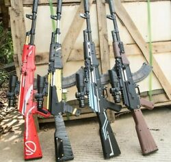 Gun Toy Ak74 Plastic Rifle Gun Outdoor Shooting Games For Boys With Gb Bullets