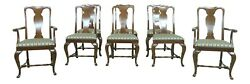 53461ec Set Of 8 Solid Cherry Queen Anne Dining Room Chairs
