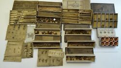 Lot Antique Repair Parts Brooches Pin Stems C Clasps Safety Catches Joints Hinge