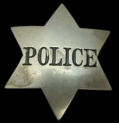 Obsolete Antique Early Police Badge
