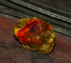 7natural Ethiopian Opal Rough 124.10 Cts Welo Fire Raw 41x34 Mm Large Size Opal