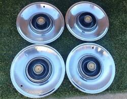1965 Chrysler Imperial Full Wheel Covers Factory Hubcaps 15 Inch Wheels Set Of 4