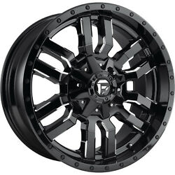 4- 20x9 Black Milled Fuel Sledge 6x135 And 6x5.5 +1 Wheels Trail Blade Mt 35 Tires