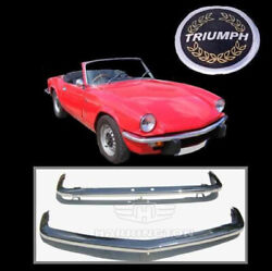 Brand New Triumph Spitfire Mk4, Gt6 Mk3, 1500 Stainless Steel Bumpers