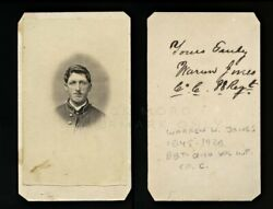 Idand039d 18 Year Old Civil War Soldier Ww Jones 88th Ohio Infantry Camp Chase Signed