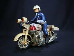 Showa Retro Tin Toy The Police Bike Solder Made In Japan