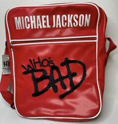 Michael Jackson Whos Bad Red Vinyl Bag Brand New With Hot Topic Original Tags