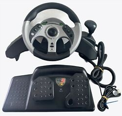 Madcatz Mc2 For Original Xbox Video Game Racing Wheel And Pedal Paddle Shifters