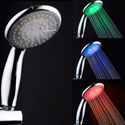 New Colorful Head 7 Colors Changing Led Home Bathroom Shower Water Glow Light Us