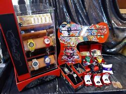 Huge Price Droped Hardy Watches Bracelets Dog Tags Rings Display Case/keys