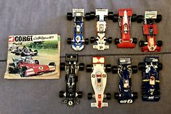 Corgi Toys F1 Racing Car Lot And 1973 Catalogue Made In Gt Britain 1/36 Scale Euc