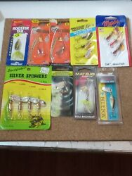 Mixed Spinner Lure Lot 9 Mepps Panther Martin Matzuo Rooster Tail