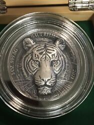 """2021 Ivory Coast Tiger Big Five Asia 5 Oz Silver Coin 5000 Francs """"available Now"""